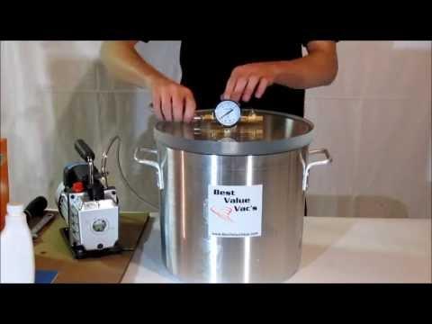 Best Value Vacs 5 Gallon Vacuum Chamber and Pump Kit