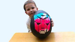Трансформеры огромное яйцо с сюрпризом открываем игрушки