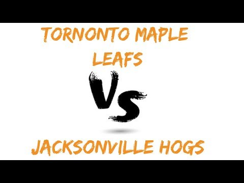 My NHL: Toronto Maple Leafs Vs Jacksonville Hogs