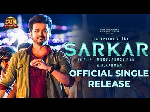 official-sarkar-single-release-date-thalapathy-vijay-a-r-murugadoss-tt-140