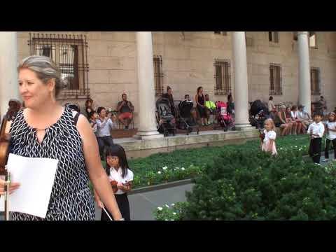 Suzuki violin group performance - Boston Public Library [Full]