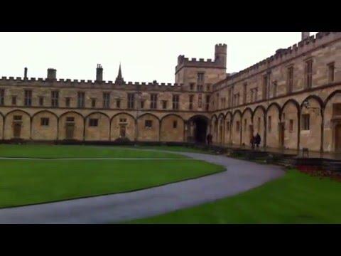 Inside of Oxford University - Christ church college