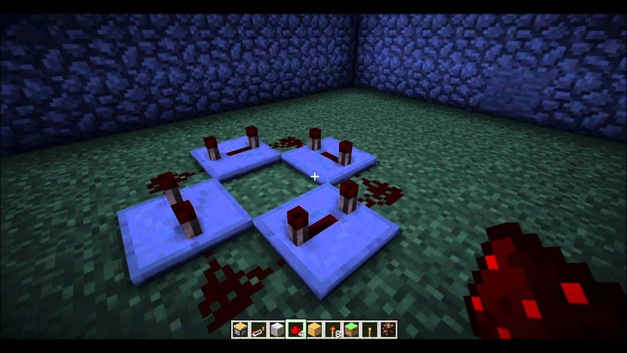 Minecraft Tutorial Blinkende Lampe Youtube