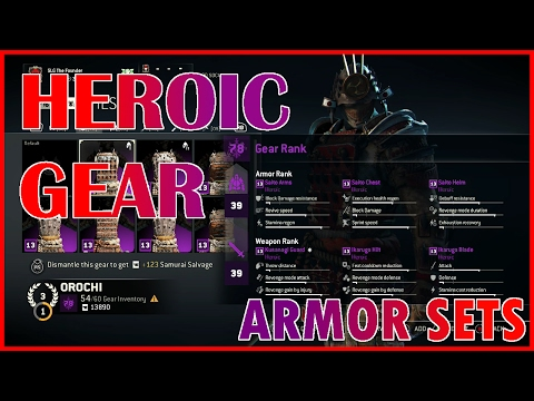 Unique & Heroic Orochi Full Armor Sets | Gear Showcasing | For Honor