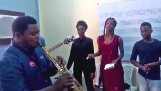 JERRY OMOLE  plays TOGETHER AGAIN @ SPAN FEST 2015 Rehearsals