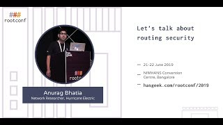 Let's talk about routing security