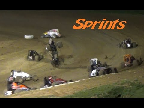 SPRINT CAR MAIN // Lincoln Park Speedway Dirt Track Racing - May 2017