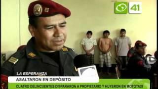 4 delincuentes asaltan depósito y disparan contra propietario - Trujillo