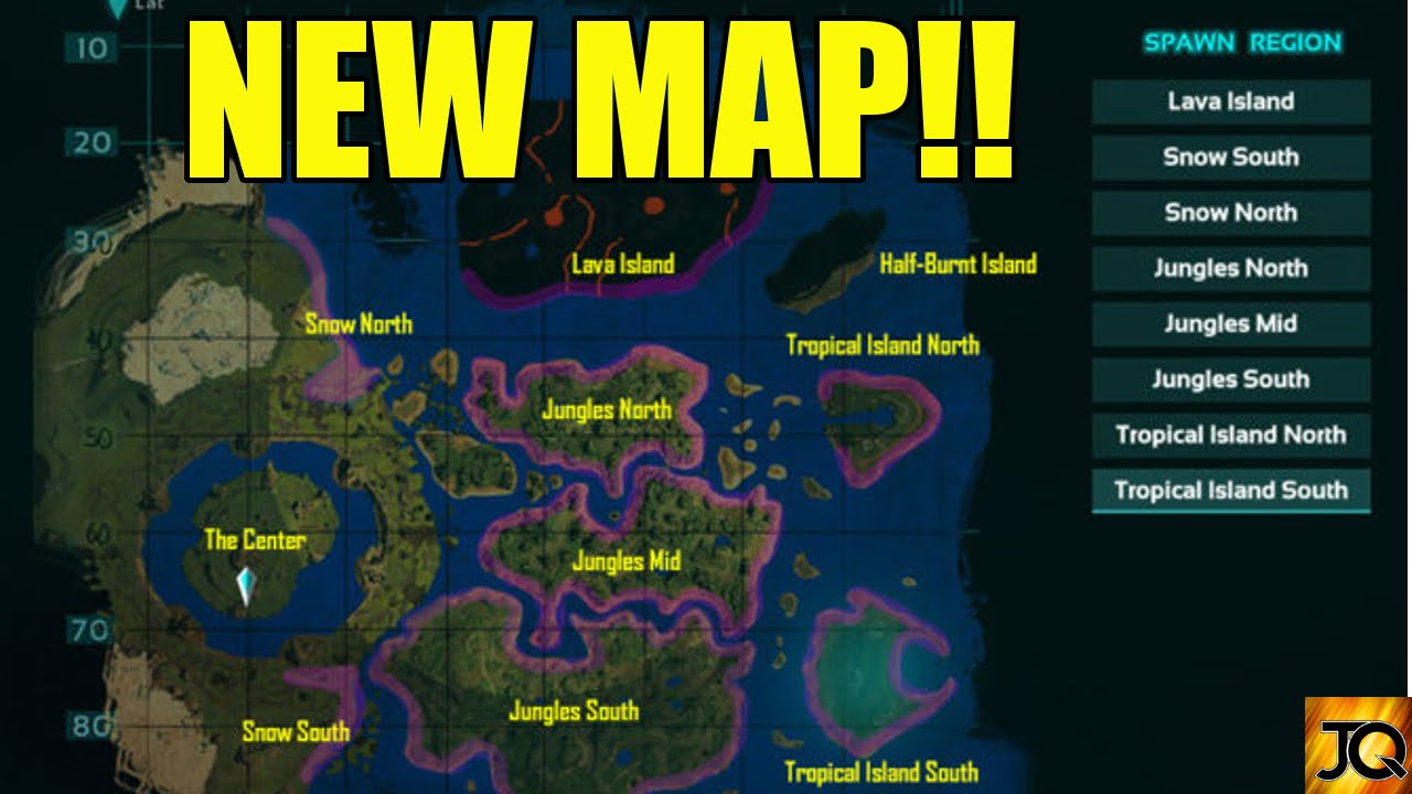 New The Center Map and Dinos! - Official Update 734.3 - Ark ... Center Map on