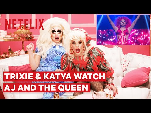 Drag Queens Trixie Mattel & Katya React to RuPaul's AJ and the Queen | I Like to Watch | Netflix