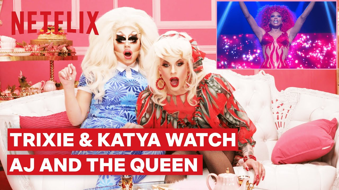 Download Drag Queens Trixie Mattel & Katya React to RuPaul's AJ and the Queen   I Like to Watch   Netflix