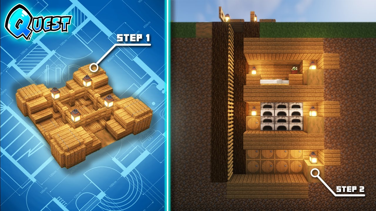 Minecraft: How to Build a Day 1 Starter Base | Tutorial |