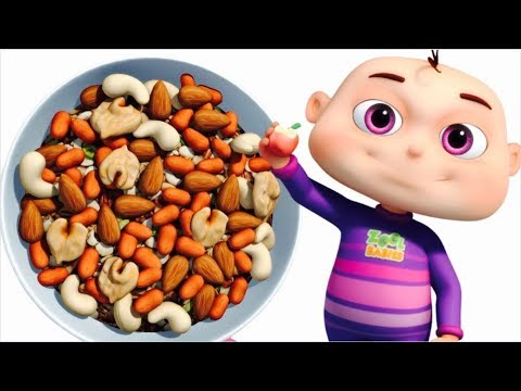 Food Song | Five Little Babies | Learn Healthy Food And Drin