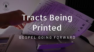 Tracts being printed - gospel going forward #shorts