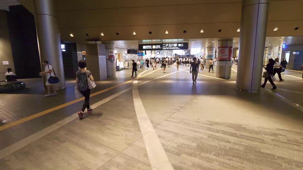 【Live】From Mizonokuchi station to Futakotamagawa, Tokyo