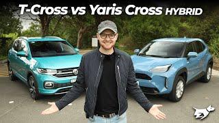 Toyota Yaris Cross vs Volkswagen T-Cross 2021 comparison review