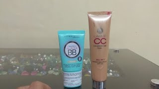 Lakme CC Cream VS Maybelline BB Cream. Difference Between BB Cream And CC Cream. ! REVIEW !😃😃
