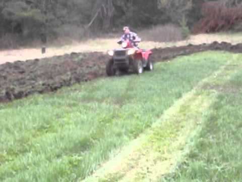 Big Buck Tools atv 3 pt hitch pulling bottom plow part 2 YouTube