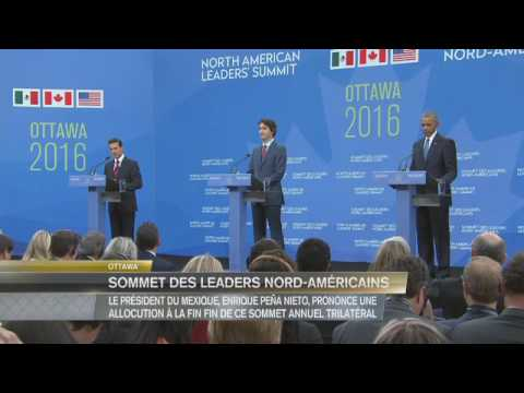 2016 North American Leaders' Summit – Trilateral News Conference