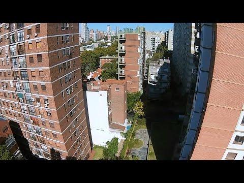 Drone Phantom vision 2+ sobre nuñez y vista de General Paz en Buenos Aires