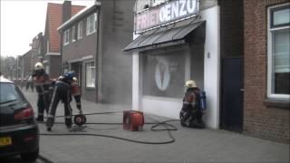 Brand in Cafetaria Julianastraat Dongen