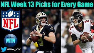 NFL Week 13 Picks for EVERY Game