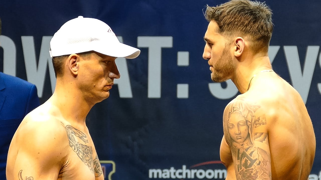 nathan cleverley v tomas man weigh in nathan cleverley v tomas man weigh in