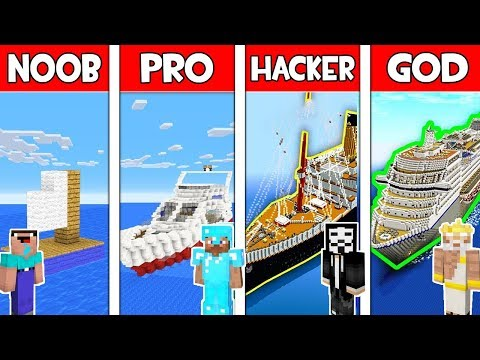 Minecraft - NOOB vs PRO vs HACKER vs GOD : BOAT in Minecraft ! AVM SHORTS Animation thumbnail