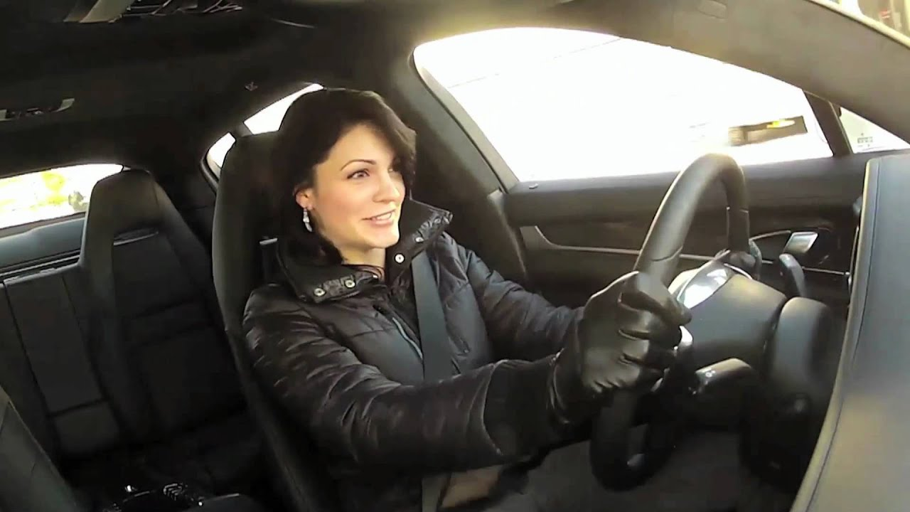 Find Me A Car >> Hot Chick Launching Porsche Panamera Turbo - YouTube