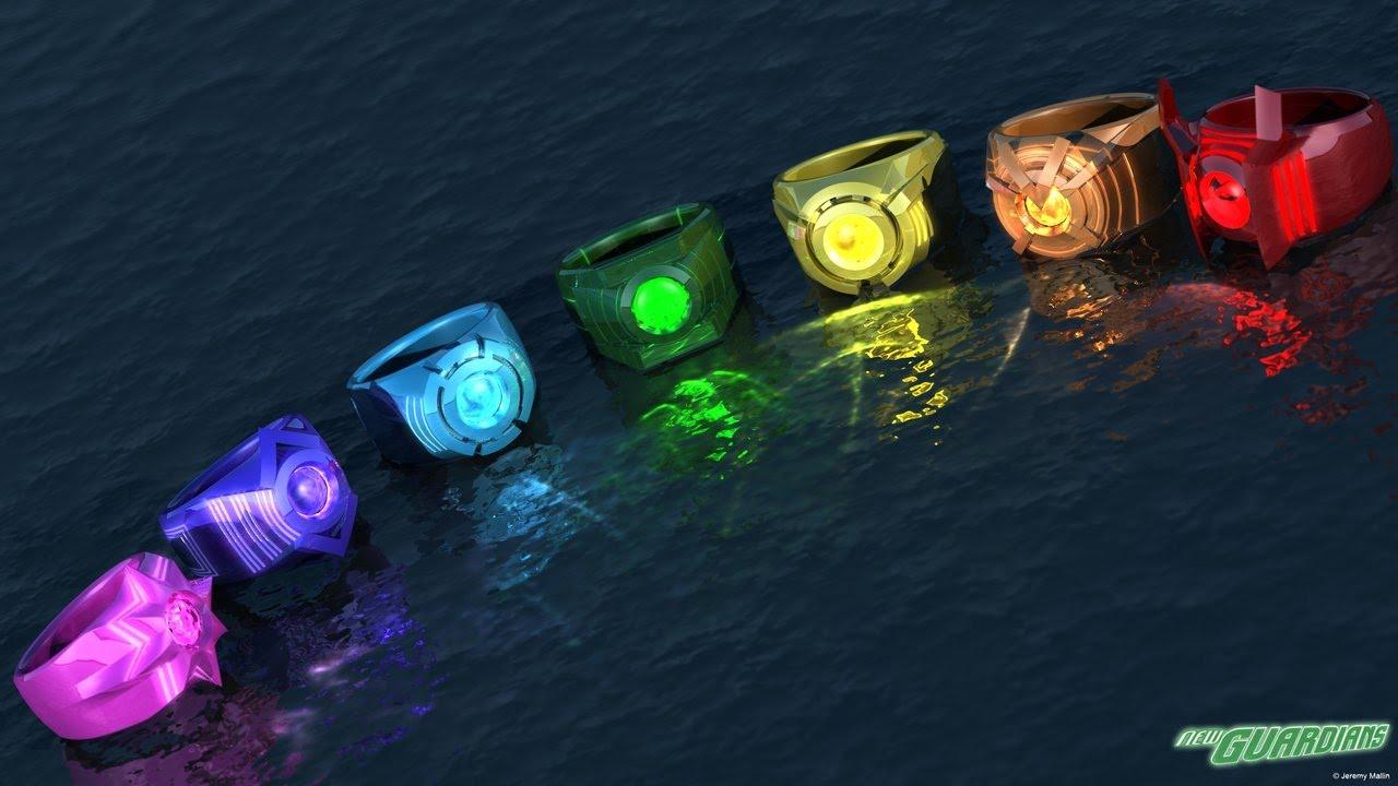 Green Lantern Power Ring Spectrum Set