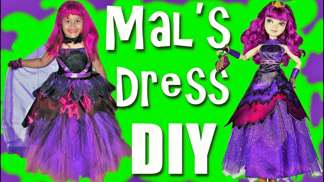 descendants 2 halloween costumes dress up diy mal dress