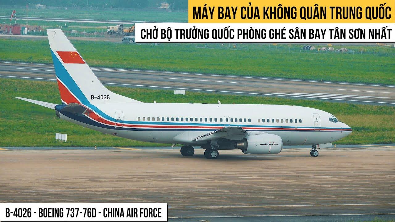 Máy Bay Của Không Quân Trung Quốc Chở Bộ Trưởng Quốc Phòng Trung Quốc Thăm Việt Nam, Ghé Sân Bay TSN