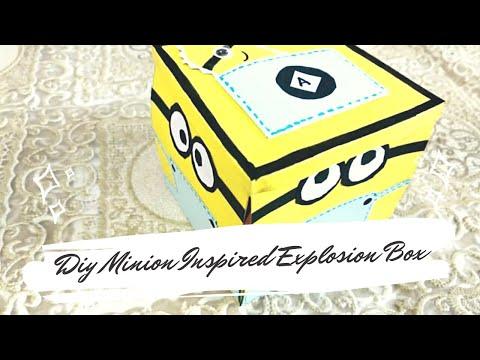 DIY MINION INSPIRED EXPLOSION BOX TUTORIAL!!!