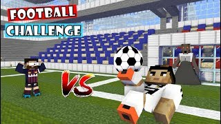 Monster School : FOOTBALL CHALLENGE (Cristiano Ronaldo vs Leo Messi) - Minecraft Animation