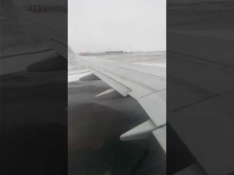 Взлет самолета в Ингушетии .. вид изнутри .Магас _ Москва .