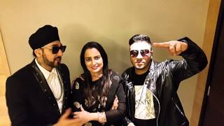 Manj musik, nindy kaur & raftar new year message www.simplybhangra.com