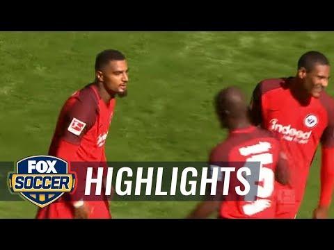 Kevin-Prince Boateng gives Frankfurt early lead | 2017-18 Bundesliga Highlights