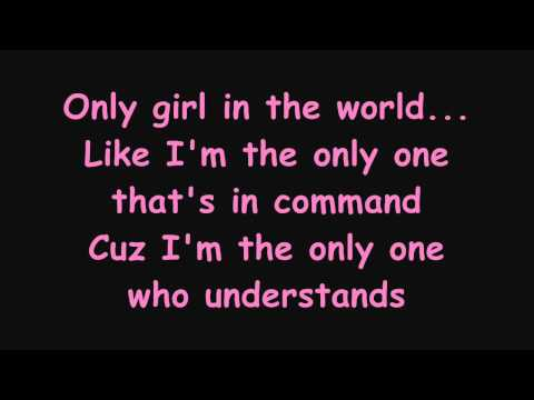 Rihanna - Only Girl (In The World) Lyrics(on Screen)