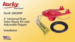 How to Repair Toilet Flapper and Flush Valve by Korky - 2003MP