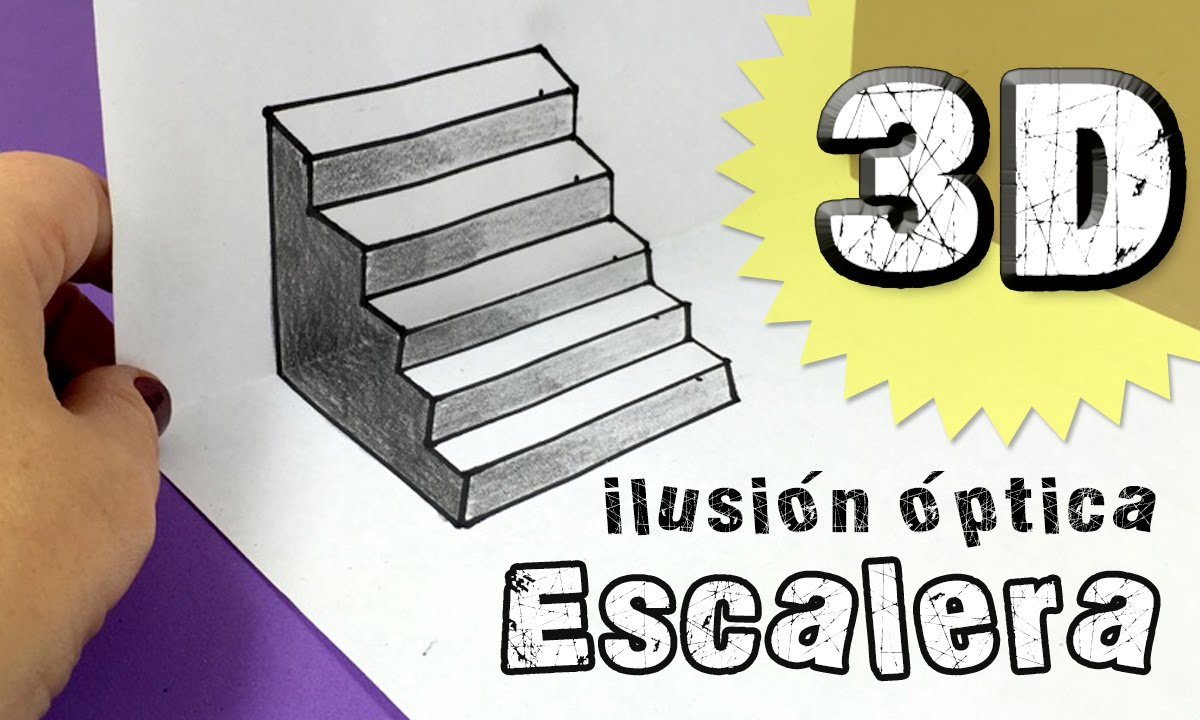 Ilusiones ópticas Escalera En Tres Dimensiones 3d Youtube