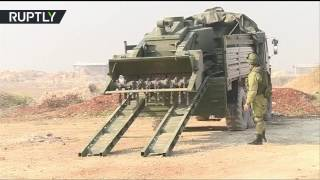 القوات الروسية تواصل إزالة الألغام في حلب باستخدام الروبوت