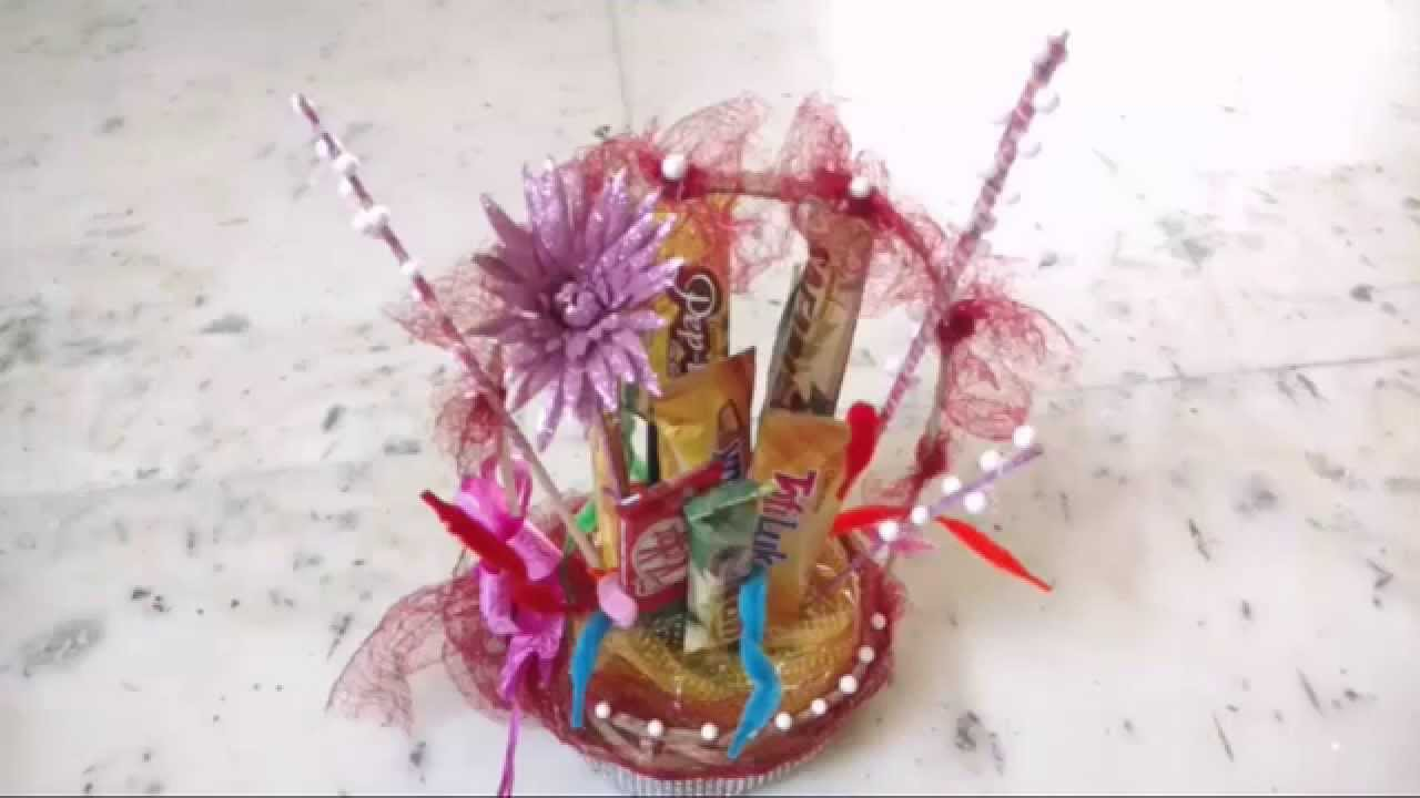 Chocolate Gift Basket Decoration At Home/DIY - YouTube
