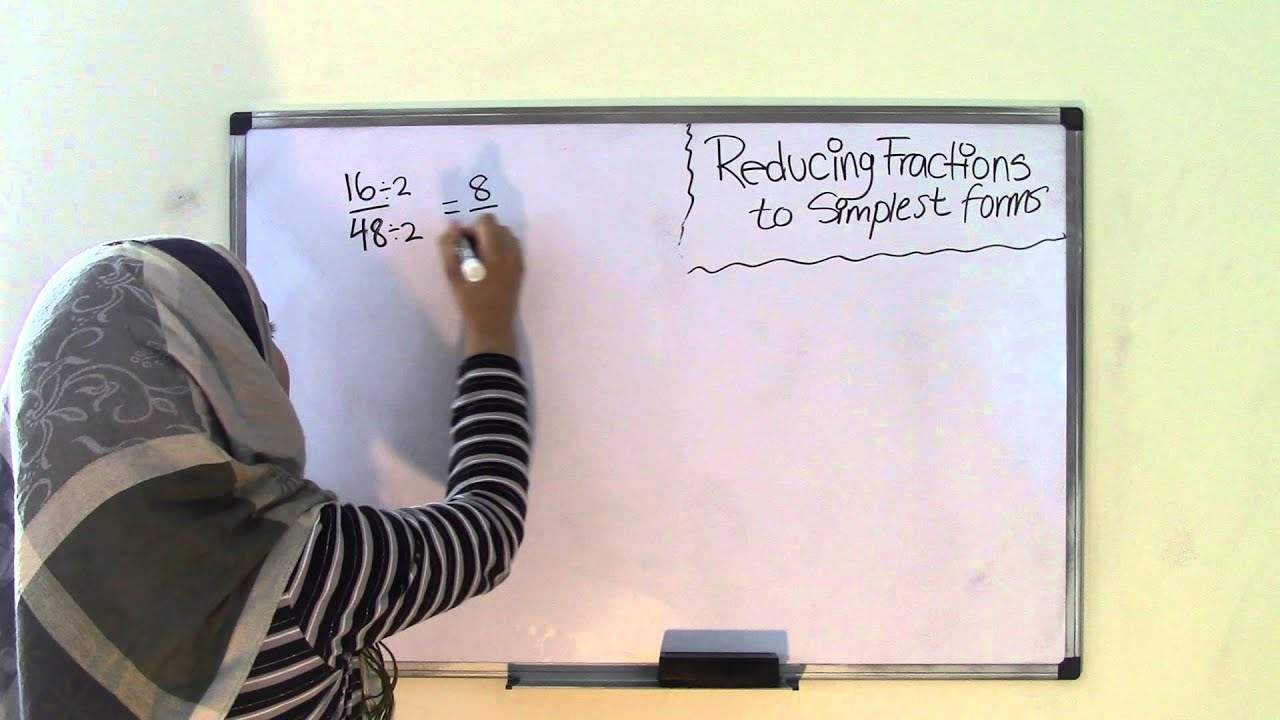6th Grade Math Simplifying Fractions To Simplest Form