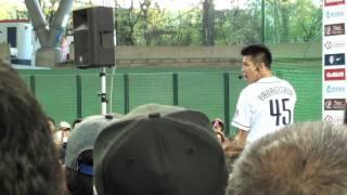 2010/4/29 西武ドームでの「埼玉西武 vs 千葉ロッテ」の 試合後に行われ...