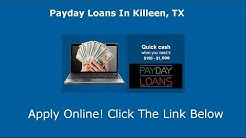 Payday Loans Killeen, TX | Online Cash Advance