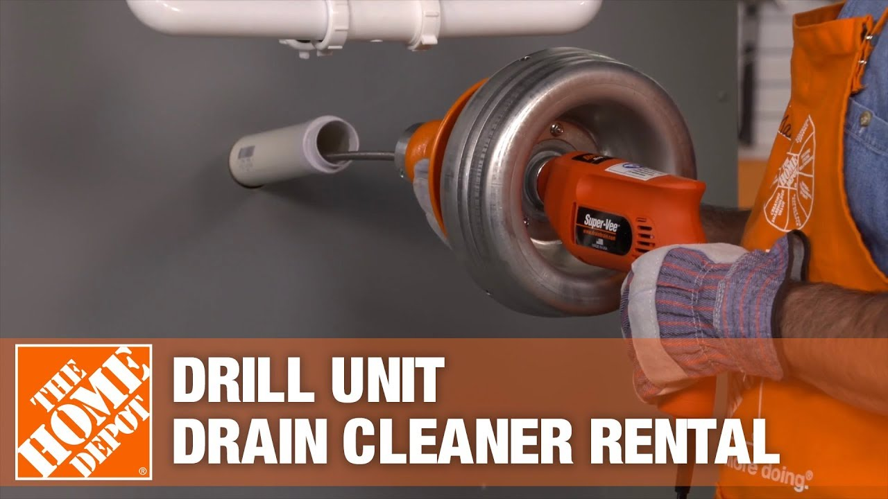 general pipe cleaners drill unit drain cleaner the home depot rental