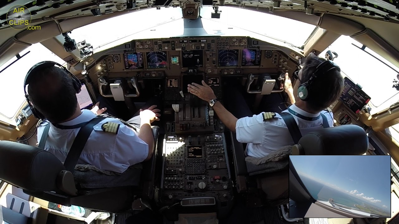 Air Austral Boeing 777 300ER Cockpit Takeoff MUST SEE AirClips