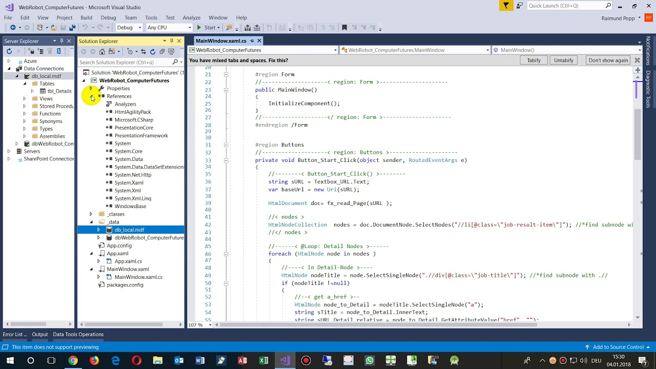WPF Create and Work with Local SQL Database in your Project