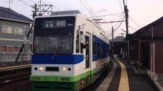 北府駅で撮影した福井鉄道800形電車 802編成