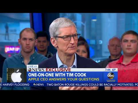 "Tim Cook On iPhone X Price:  ""It's A Value Price"""